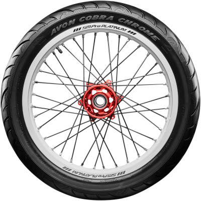 120/70-21 AVON AV91 COBRA CHROME BLACK WALL FRONT TIRE